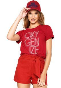 Camiseta Hering Oxigenize Vinho