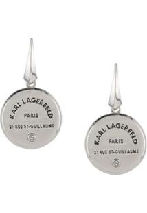 Karl Lagerfeld Par De Brincos Rue St. Guillaume - Prateado