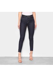 Calça Jeans Cigarrete Sawary Cintura Alta Feminina - Feminino