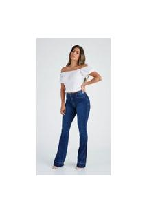 Calça Jeans Buy Style Flare Isadora Azul