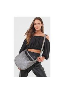 Bolsa Transversal Shoulder Bag Majestic Prata