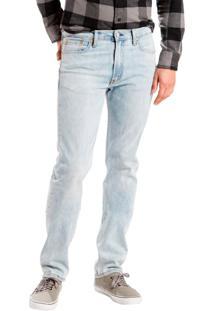 Calça Jeans Levis Masculina 513 Slim Straight Azul Claro Azul
