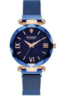 Relógio Curren Analógico C9063L Feminino - Feminino-Azul