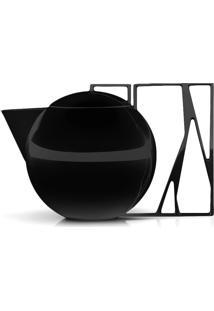 Bule Chá Trama Black Níquel - Riva