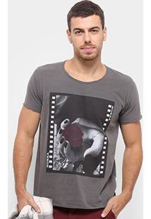 Camiseta Bossa Brasil Rosa Masculina - Masculino