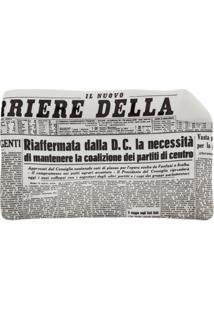 Fornasetti Bandeja Cinza Em Porcelana Modelo 'Ii Corriere Della Sera'. - Grey