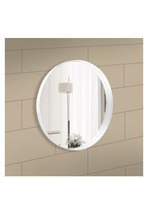 Espelho Decorativo Round Interno Branco 50 Cm Redondo