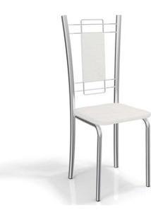 Cadeira Kappesberg Florença 4C005 (4 Uni) Cromada/Branco