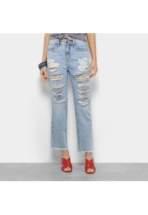 Calça Jeans Boyfriend Forum Lolita Cintura Média Feminina - Feminino