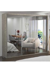 Guarda-Roupa Casal 3 Portas De Espelho 100% Mdf 1986E3 Demolição - Foscarini
