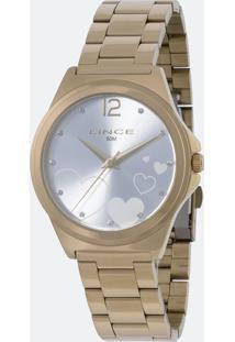 Relógio Feminino Lince Lrg4560L Kv18S2Kx Analógico 5Atm + Conjunto Semijóia