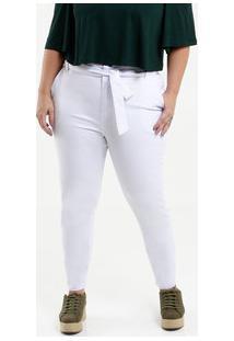 Calça Feminina Sarja Clochard Plus Size Razon