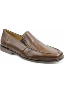 Sapato Social Masculino Side Gore Sandro & Co Hanz Easy - Masculino-Marrom