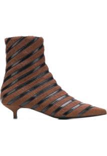 Sonia Rykiel Ankle Boot Listrada - Marrom