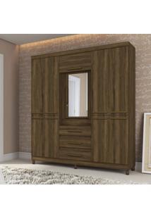 Guarda Roupa Casal Com Espelho 10 Portas 3 Gavetas Fusion Albatroz Móveis Cedro