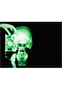 Jogo Americano Decorativo, Criativo E Descolado | Raio-X De Caveira Fotógrafo - Tamanho 30 X 40 Cm