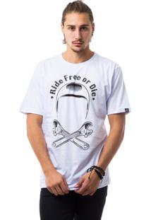 Camiseta The Skull Ride Free Or Die - Masculino