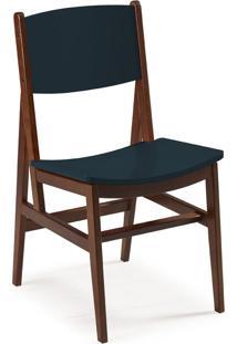 Cadeira Dumon 87 Cm 951 Cacau/Azul Noite - Maxima