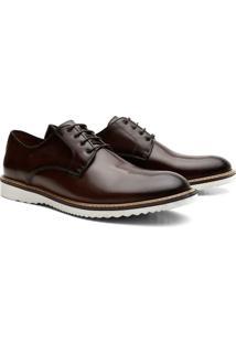 Sapato Social Tratorado Cadarço Oxford Derby Masculino - Masculino
