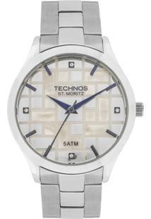 Relógio Technos St. Moritz Analógico 2039Bb/1B Feminino - Feminino-Prata