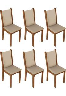 Kit 6 Cadeiras Rustic Crema PérolaMadesa 4291