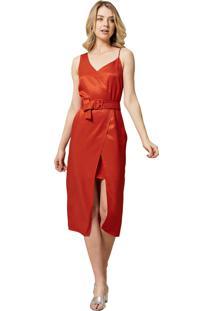 Vestido Mx Fashion Com Transpasse Francis Coral