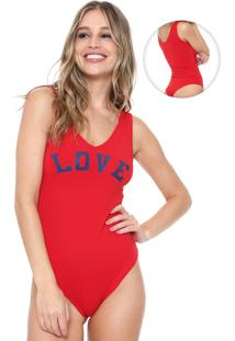 Body Fiveblu Love Vermelho