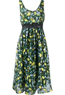 Diane Von Furstenberg Vestido Com Estampa De Limão - Preto