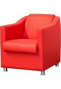 Poltrona Decorativa Para Sala E Escritório Laura Corino Vermelho - Lyam Decor