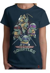 Camiseta Squirtles - Feminina