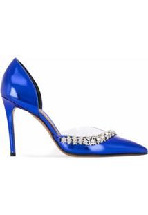 Alexandre Vauthier Sapato Ane Com Aplicações - Azul