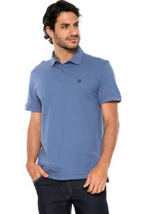 Camisa Polo Timberland Bordado Azul