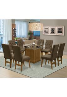 Mesa Para Sala De Jantar Saint Louis Com 8 Cadeiras – Dobuê Movelaria - Mell / Cacau