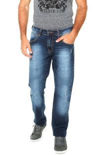 Calça Jeans Triton Slim Gilson Estonada Azul