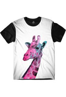Camiseta Bsc Girafa Pretoida Sublimada Preto/Branco