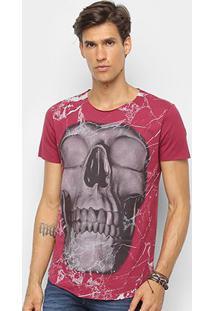 Camiseta Derek Ho Caveira Masculina - Masculino-Vinho