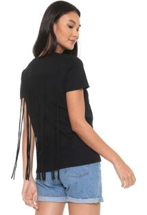 Camiseta Calvin Klein Franjas Preta