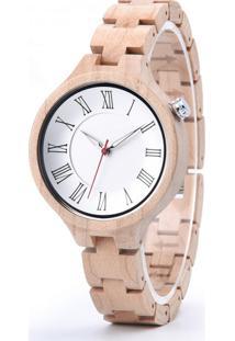 Relógio Design Madeira Dododeer-A14 - Branco