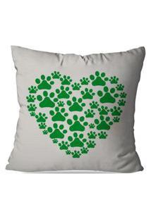 Capa De Almofada Decorativa Green Love 45X45Cm
