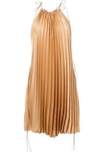 Stella Mccartney Vestido Frente Única Com Pregas - Neutro