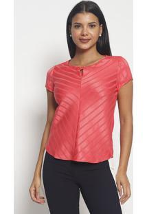 Blusa Texturizada & Listrada- Rosa Escuro- Vip Reservip Reserva