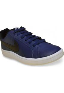 Tenis Masc Nike 749747-400 Court Royale Azul/Preto/Branco