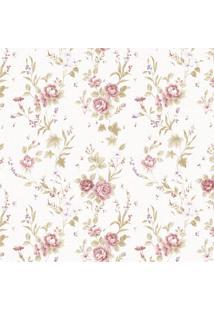 Papel De Parede Stickdecor Adesivo Floral Vintage 092 3Mt A 1,00Mt L