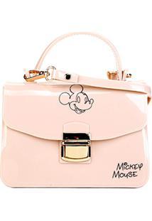 Bolsa Gash Mickey Mini Bag Alça Corrente Feminina - Feminino-Nude