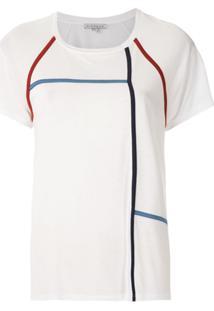 Alcaçuz Blusa Napoleão Com Recortes - Branco