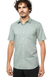 Camisa Volcom Everett Verde