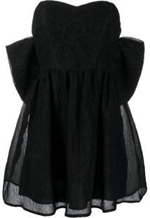 P.A.R.O.S.H. Vestido Oversized Com Laço - Preto