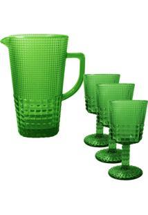 Jarra Quadriculada Verde 1,5 Litros - Incolor - Dafiti