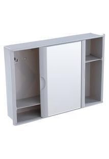 Armário Para Banheiro Versátil 1 Porta C/ Espelho Astra A23-Cz2 Cinza