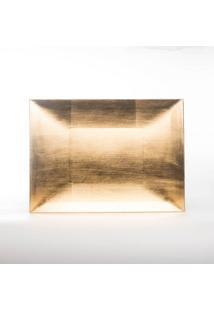 Sousplat Natalino Decoração Mesa Modelo Quadrado Dourado